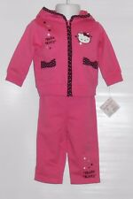 Hello Kitty by Sanrio Infant Girls French Terry Hoodie & Pant Set Pink 12M NWT