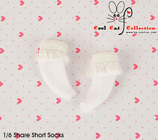 ☆╮Cool Cat╭☆【KS-A03】Blythe/Pullip(1/6 Doll) Lace Top Ankle Socks # White