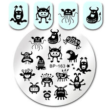 Nail Stamping Plate Monster Ghosts Nail Art Image Plate Round Born Pretty BP-163