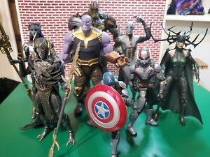Marvel Legends Mcu Black Order Lot w/ Hela, Capt America & Ant-man