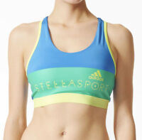 adidas StellaSport Graphic Womens Sports Bra - Blue