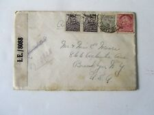 Brazil Oct 1942, Censored Cover, w/Registered Fee, posted to Brooklyn, WWII