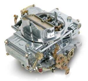 Holley 600 CFM 4-Barrel Street Carburettor Silver Vacuum Secondary Manual Choke