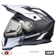 New 509 Delta R3 Carbon Fiber Ignite Snowmobile Helmet Storm Chaser LG