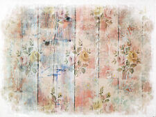 Rice Paper for Decoupage Decopatch Scrapbook Craft Sheet Shabby Fence with Roses