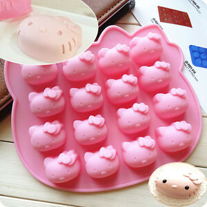 16-Cells Hello Kitty Silicone Cake Candy Chocolate Decorating Mold Baking