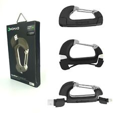 Nomad carabiner Micro USB to USB cable strong high speed 2.0 data 2.4amps New