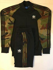 Adidas Originals Superstar Tracksuit Black Camouflage Size XL