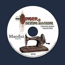 The Singer Sewing Machine – 18 Vintage E-books PDF on 1 DVD Textiles Tailor Sew