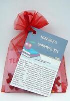 TEACHER SURVIVAL KIT FUN THANK YOU LEAVING GIFT JOB EMPLOYMENT CHRISTMAS CARD ..