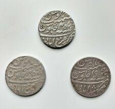 British India, Bengal Presidency, Farukkabad(2) & Murshidabad(1) Silver Rupee(3)