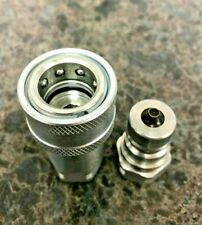 38 Npt Quick Disconnect Hydraulic Coupler Iso 7241 B Poppet Adapter
