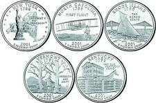 2001 US State Quarters Five Uncirculated Straight from mint US Mint