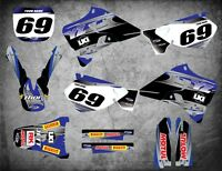 Custom Graphics Full Kit to Fit Yamaha YZ 125 / 1996 - 2001 STEEL STYLE stickers