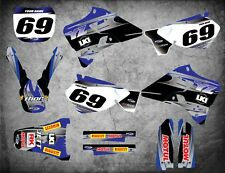 Custom Graphics Full Kit to Fit Yamaha YZ 250 / 1996 - 2001 STEEL STYLE stickers