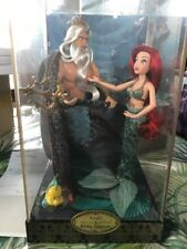 Disney Ariel King Triton Fairytale Collection LTD EDITION Doll SET #2879 Mermaid