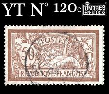 FRANCE N°120c TYPE MERSON SANS TEINTE DE FOND