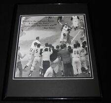 Bill Mazeroski 1960 World Series Home Run Pirates Framed 11x14 Photo Display