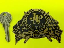 JPS LOTUS World Champion Black & Gold Flags car sticker
