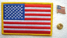 United States National Flag Pin and Patch Embroidery
