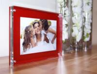 """Acrylic 4x6"""" desk block magnetic picture photo frame for  6 x 4"""" all colours"""