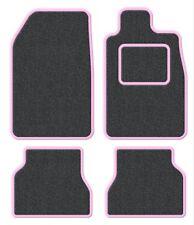 PEUGEOT 207 CC 07-velours anthracite / rose garniture Ensemble tapis de voiture