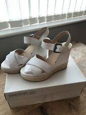 Geox Floralie Women US 7.5 Nude Wedge