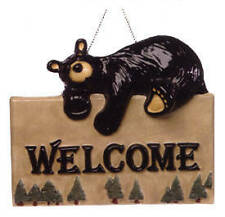 Free Shipping Big Sky Carvers Bearfoots Bears Ceramic Welcome Sign