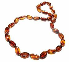 Genuine Natural Baltic Amber Necklace for Adult Cognac Color