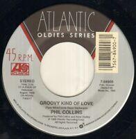 """PHIL COLLINS Groovy Kind Of Love 7"""" VINYL"""