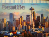 BEAUTIFUL PHOTO POST CARD AERIAL VIEW SEATTLE WASHINGTON