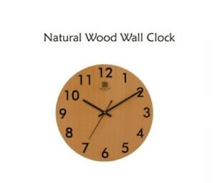 30cm Wooden Wall Clock, Arabic Numeral Design Rustic Country Tuscan Vintage