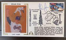 "1993 Nolan Ryan Last Game Autographed Gateway Cachet (104 issued) HOF ""RARE"""