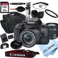 Canon EOS Rebel T8i DSLR Camera with 18-55mm STM Lens + 32GB Card (18PC Bundle)