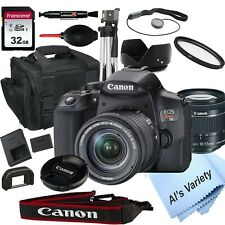 Canon EOS Rebel T8i DSLR Camera with 18-55mm STM Lens + 32GB Card (18PC Bundle)