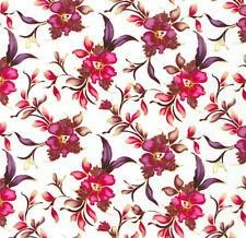Wassertransferdruck Folie Blumen Rot - 50cm breit