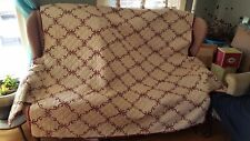 Couch Slip Cover, Reversible, Burgandy and Off White