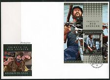 SOLOMON ISLANDS 2016 TRIBUTE TO BUD SPENCER SOUVENIR SHEET FIRST DAY COVER