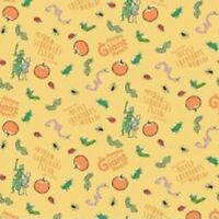 Road Dahls JAMES AND THE GIANT PEACH YELLOW Cotton Print by RILEY BLAKE BTY