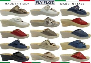 Slippers Fly Flot Sandals Women's Home With Plantar Leather Non-Slip Italy
