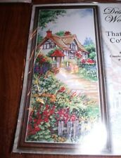 """Design Works THATCHED COTTAGE Counted Cross Stitch Kit  8"""" x 20"""""""