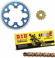 DID gold race chain & 14t/50t Talon blue sprocket kit Husqvarna FE501 2014-2017