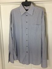 MENS CLAIBORNE LONG SLEEVE DRESS SHIRT 16.5 34/35 STRIPED 100% COTTON