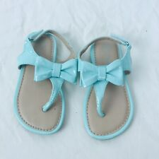 Cherokee Mint Green Patent Leather Sandals Toddler Girl's Size 7 Buckle Closure