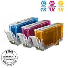 3 Pack CLI-221 Color Ink Cartridge Set for Canon Pixma MP640 MP620 CLI221 New