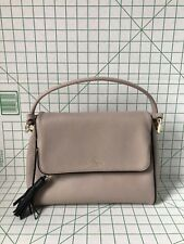 NWT Kate Spade Miri Chester Street Leather handbag Almondine with Black trim