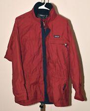 Women's Red Patagonia Rain Jacket Hood in Collar Sz Large L