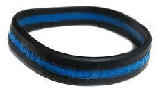 Thin Blue Line Silicone Law Enforcement Bracelet Pack of 3 Adult Size