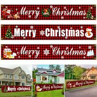 Merry Christmas Door Curtain Hanging Porch Sign Banner Xmas Party Decor Ornament