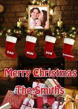 FAMILY PHOTO Christmas PIDXM92 A5 Xmas Greeting Card Personalised Nan mum dad